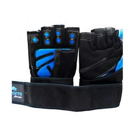 Spinto USA 9160007 Mens Workout Glove with Wrist Wraps, Blue & Gray - Large - image 1 of 1