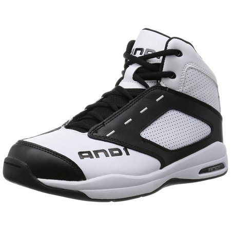 And 1 Typhoon D1090MWBW White Black White Athletic Basketball Shoes - Preschool Basketball Shoes