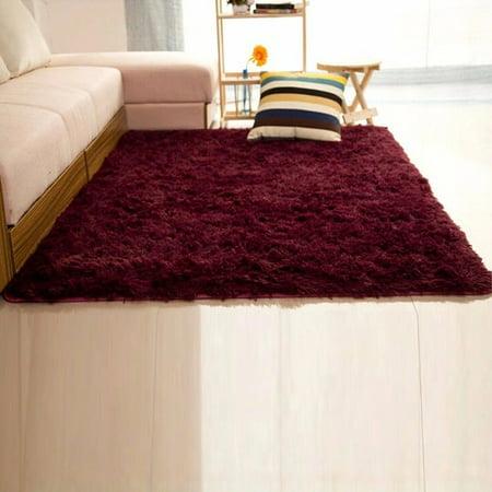 NK 157x236 Rectangular Area Rug Super Soft Indoor Carpet Modern Silky Smooth Rugs Fluffy Anti Skid Dining Room Home Bedroom Floor