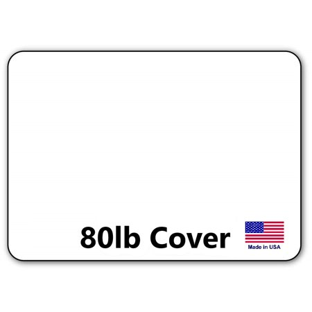hamilco white cardstock thick paper blank index flash note post