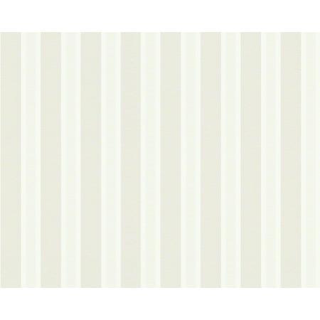 Metropolis - Urban Graphic Stripes Floral Textured Plain White Wallpaper Sample - image 1 de 1
