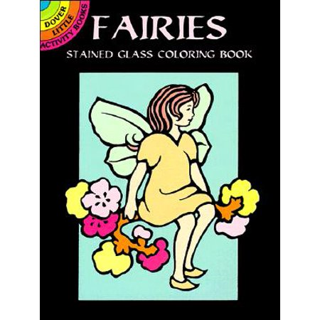 Fairies Stained Glass Coloring Book - Fairy Stained Glass