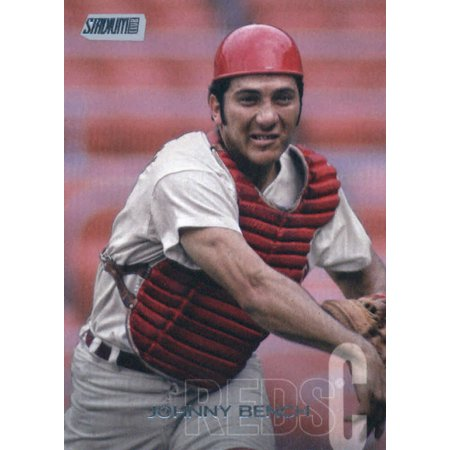 Johnny Bench Cards (2018 Topps Stadium Club #29 Johnny Bench Cincinnati Reds Baseball Card - *GOTBASEBALLCARDS )