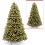 national tree pre lit 9 feel real down swept douglas fir hinged - Christmas Tree Lights Led