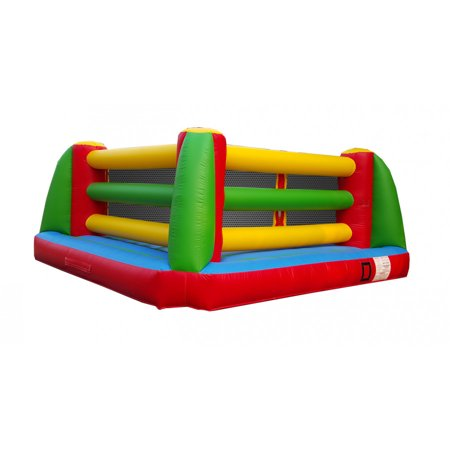 Pogo Ever Tuff Punch Out Kids Jumper Inflatable Boxing Ring with Blower