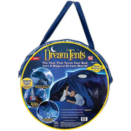 New! DreamTents Fun Pop Up Tent - Space Adventure - As Seen On TV!!, Works with virtually any twin bed, including bunk beds By Dream Tents