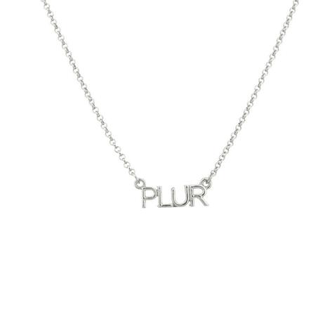 Lux Accessories PLUR Peace Love Unity Respect EDM Rave Music Festival Pendant Necklace.](Festival Accessories)