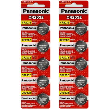 Panasonic CR2032 3V Lithium Coin Battery - 10 Pack + FREE SHIPPING! 3v Lithium Coin Battery