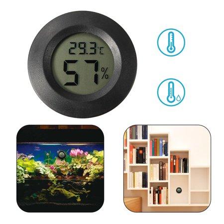 Hygrometer Thermometer, EEEKit Mini LCD Digital Thermometer Hygrometer Indoor Outdoor Temperature Humidity Meter Detector Round Tester, Black