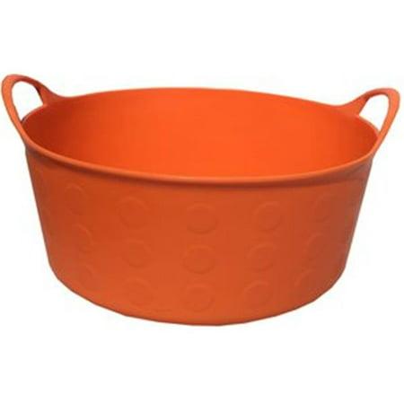 Tuff Stuff Products S4-OR 4 gal Tuff Flex Tub - - Orange Tub