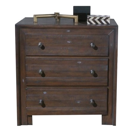 Hawthorne collections 3 drawer nightstand in distressed - Hawthorne bedroom furniture collection ...