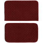 """Garland Rug Town Square Solid Chili Pepper Red 2pc Kitchen Accent Rug Set(18""""x28""""Slice, 18""""x28""""Mat)"""