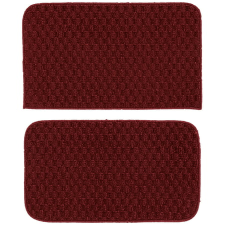 Garland Rug Town Square 2pc Kitchen Rug Set 18 in. x28 in. Slice & 18 in. x28 in. Mat Chili Red ()