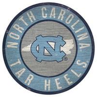 North Carolina Tar Heels 12'' x 12'' State Circle Sign