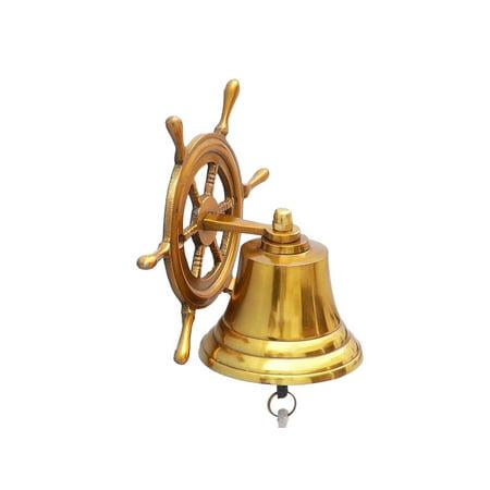 - Ship Wheel Brass Bell 4