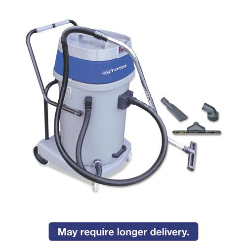 Mercury Floor Machines Mercury Storm Wet/Dry Tank Vacuum, Dual Motor, 20 Gallon Poly Tank, Gray MFM WVP-20