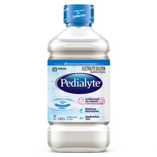 Pedialyte Unflavored 2 oz. Bottle, Institutional - 48 Case