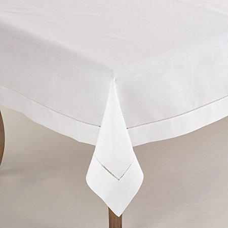 Fennco Styles Rochester Collection Tablecloth with Hemstitched Border, 70
