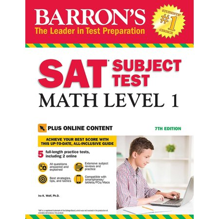 SAT Subject Test: Math Level 1 with Online Tests Mcp Math Level