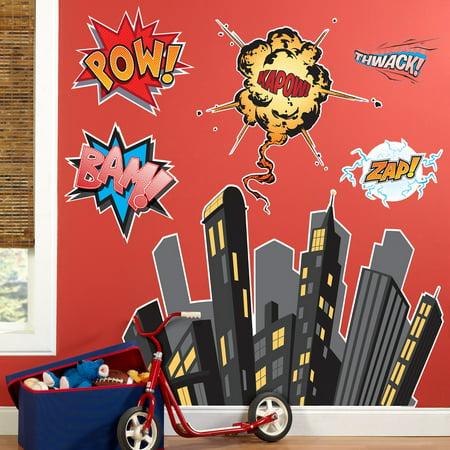 Superhero Comics Giant Wall Decals](Superhero Wall Decals)