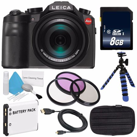 Leica V-LUX (Typ 114) Digital Camera (International Model no Warranty) + Replacement Lithium Ion Battery + Flexible Tripod with Gripping Rubber Legs + Mini HDMI Cable Bundle (Leica V Lux 2 Digital Camera Review)
