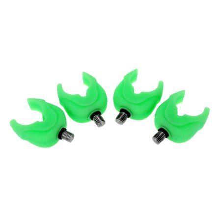 4pcs Silica Gel Rubber Fluorescent Fishing Rod Pole Butt Rest Head Luminous Gripper