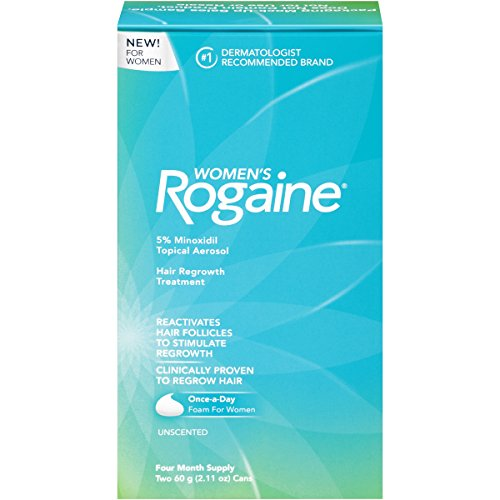 Rogaine for Women Hair Regrowth Treatment Foam, 4 Month Supply,4.22 Ounce