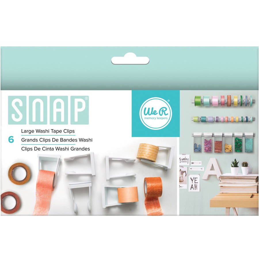 Snap Storage Washi Tape Clips, 6pk