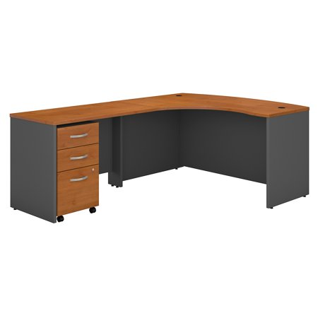 Series C Returns Bundles 257 Lbs Weight Capacity Engineered Wood 60 W X 43 D Left Hand L Desk With 3 Drawer Mobile Pedestal
