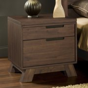 Modus Furniture International Portland Solid Wood Nightstand - Medium Walnut