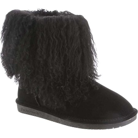 Women's Bearpaw Boo Solids Furry Boot - Furry Boots For Girls