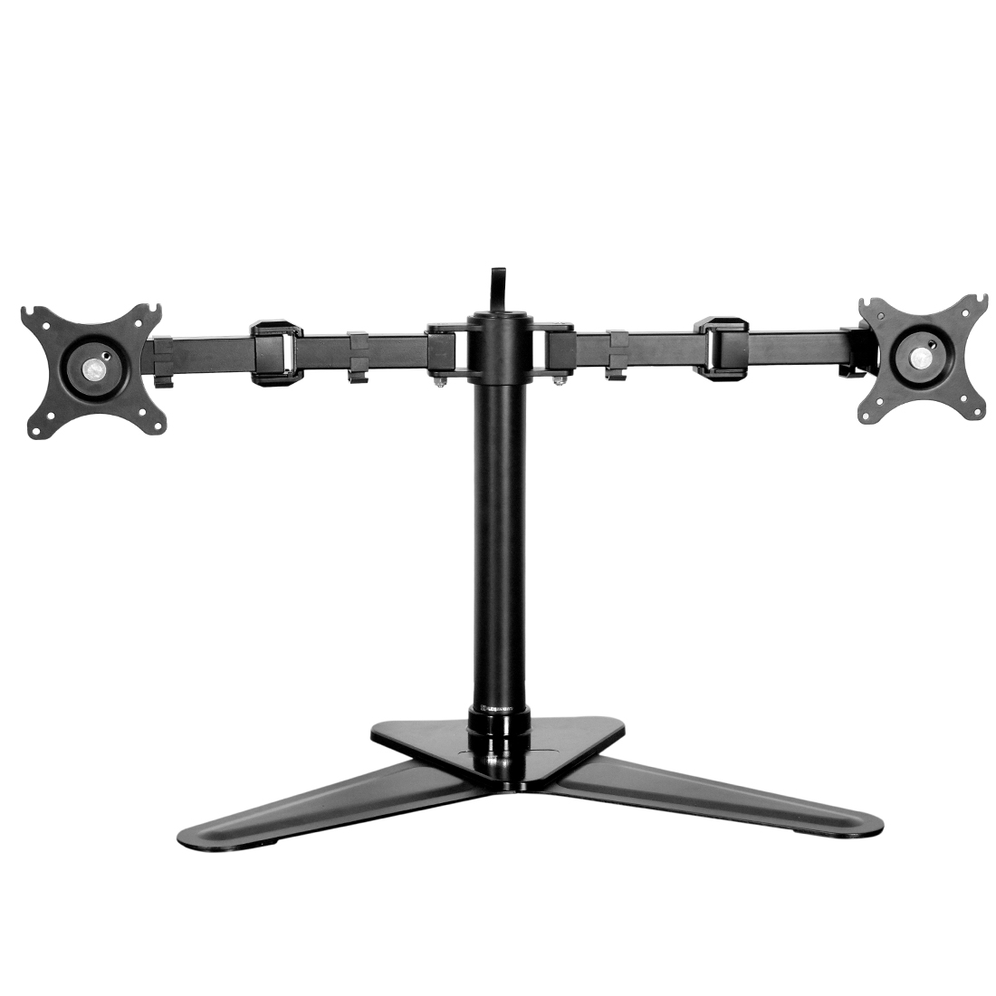 FLEXIMOUNTS DF1D Full Motion Free Standing Dual Monitor arm Desk