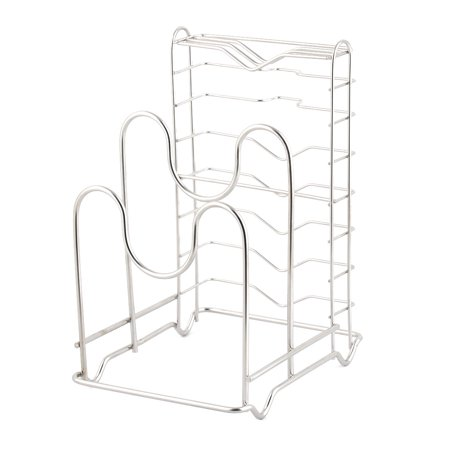 Household Kitchen Metal Pan Pot Lid Cover Cutting Board Holder Drying Rack - image 3 de 3
