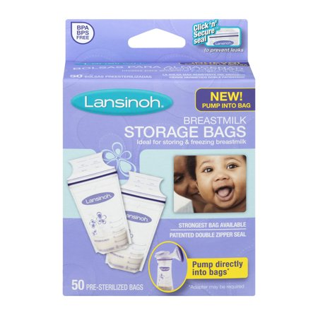 Lansinoh Breast Milk Storage Bags  50 Ct