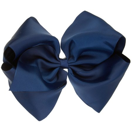 Girls With Blue Hair (On The Verge Girls Basic Large Bow Hair Clip One Size Navy)