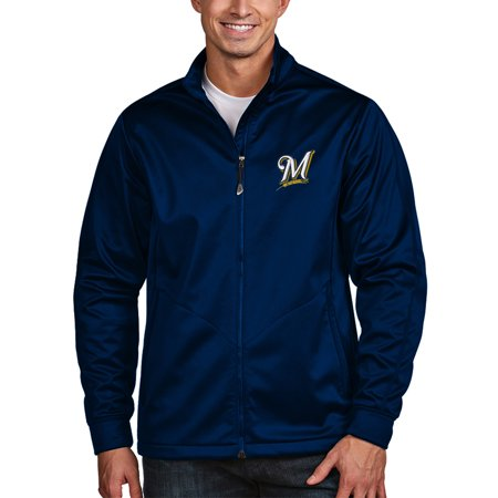 Milwaukee Brewers Antigua Golf Full-Zip Jacket - (Antigua Golf Vest)