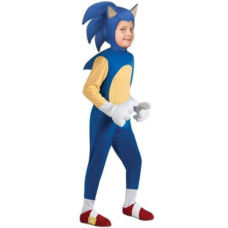 Sonic The Hedgehog Deluxe Sonic Costume Child Large 12-14 for $<!---->
