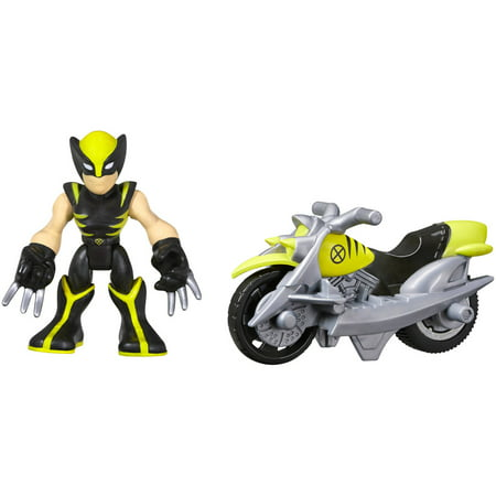 Playskool Heroes Marvel Super Hero Adventures Wolverine Figure with Claw Racer Vehicle