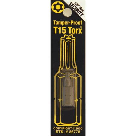 Best Way Tools T15 Tmpr Security Bit 86778
