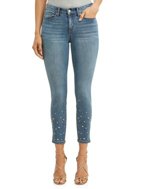 Sofia Jeans Skinny Studded Mid Rise Stretch Ankle Jean Women's