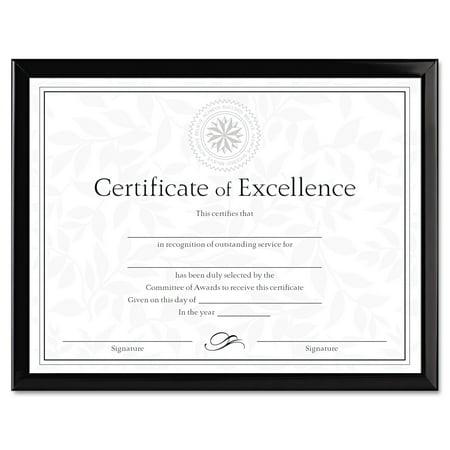 Dax Value U Channel Document Frame W Certificates  8 1 2 X 11  Black