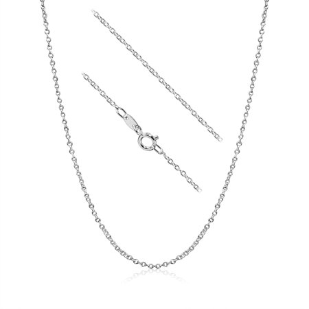 Cable Chain Necklace Sterling Silver Italian 1.3mm Nickel Free 12 -