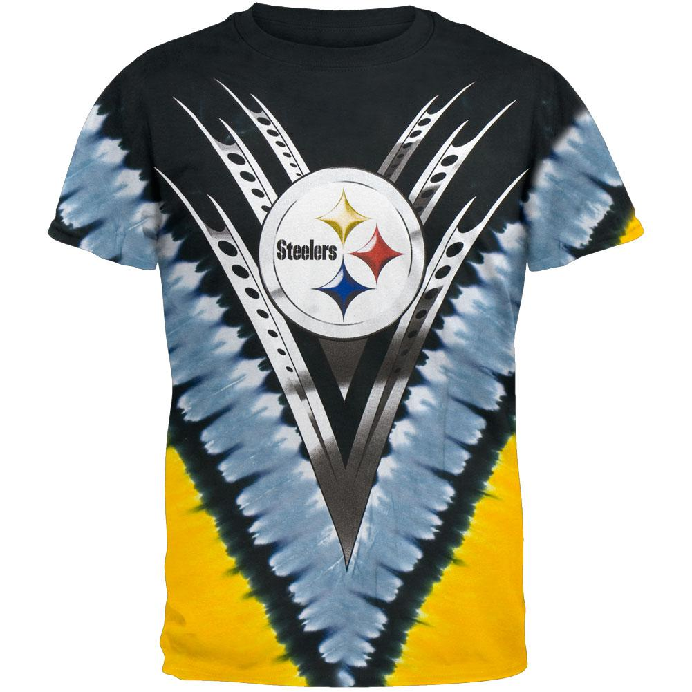pittsburgh steelers logo vdye tie dye tshirt - Pittsburgh Steelers Merchandise