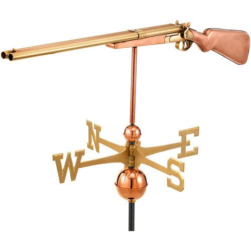 Good Directions Shotgun Weathervane, Polished Copper