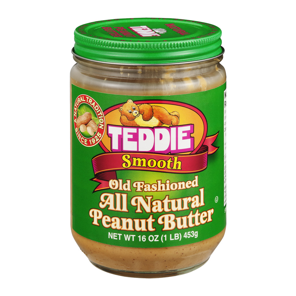 Teddie Old Fashioned Peanut Butter All Natural Smooth, 16.0 OZ