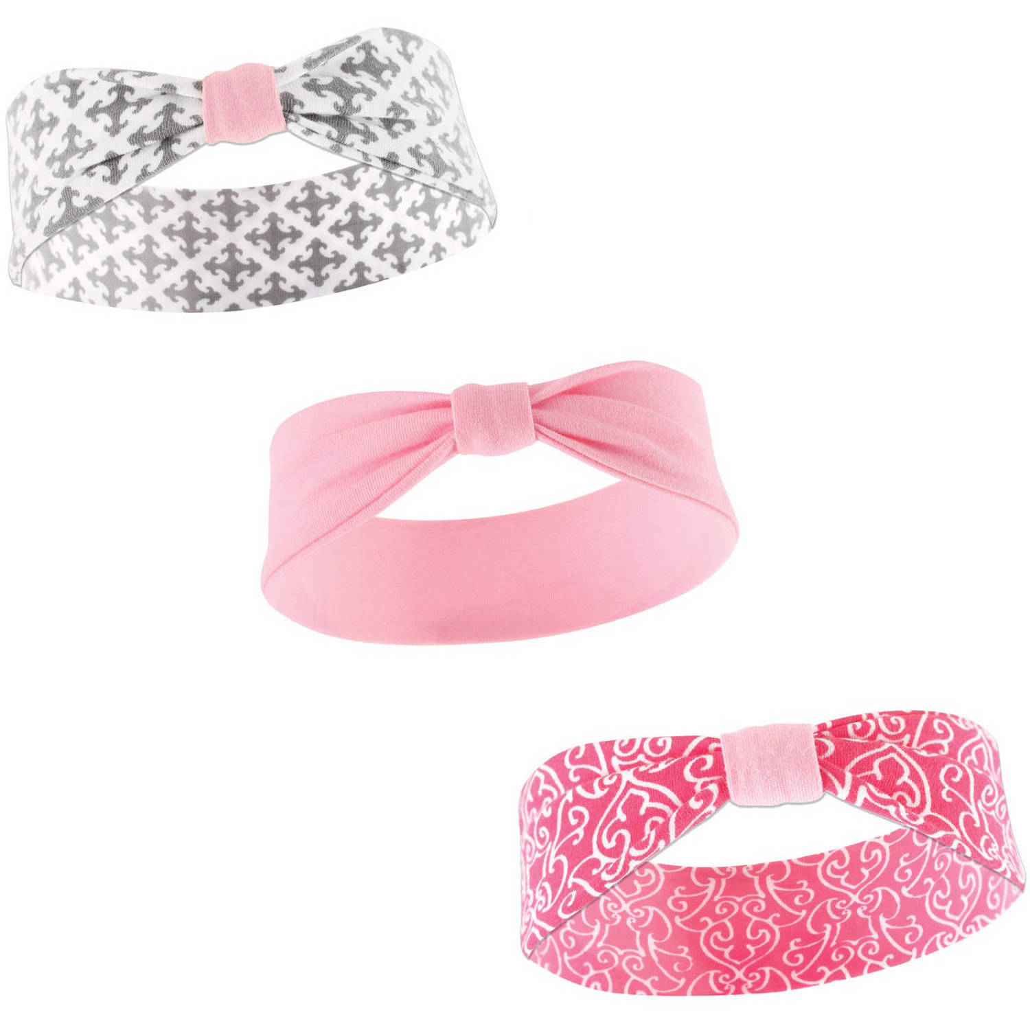 Yoga Sprout Newborn Baby Girls Headband 3-Pack - Demask