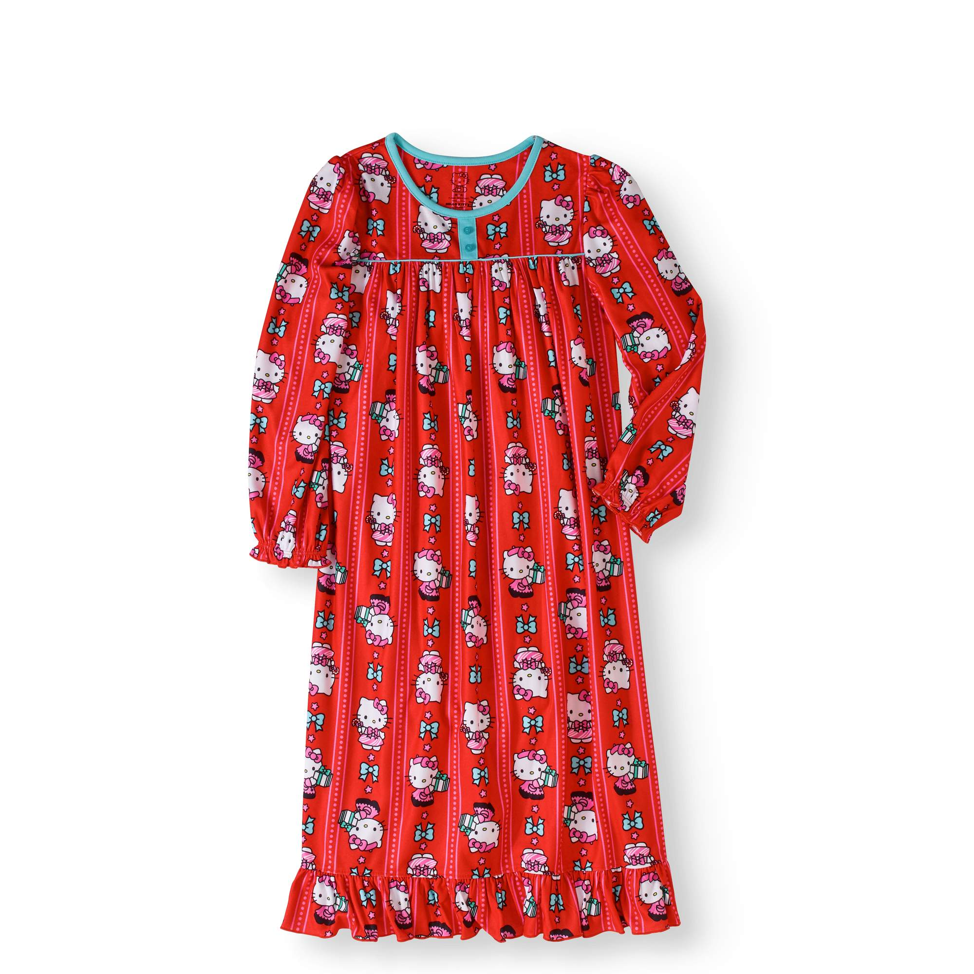 Hello Kitty Girls Flannel Granny Gown Nightgown (Little Kid/Big Kid) K183414HK