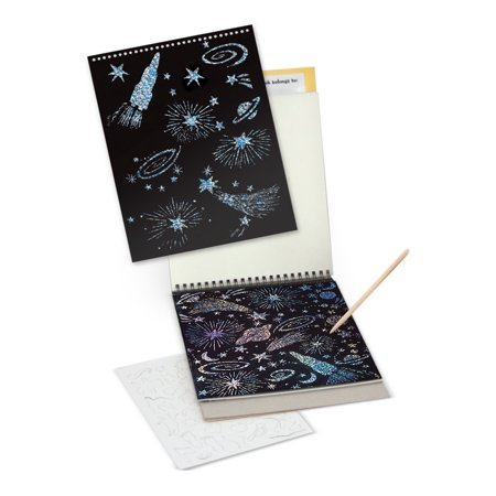 Melissa & Doug Scratch Art Sketch Pad With 12 Scratch-Art Boards and Wooden Stylus - image 1 de 2