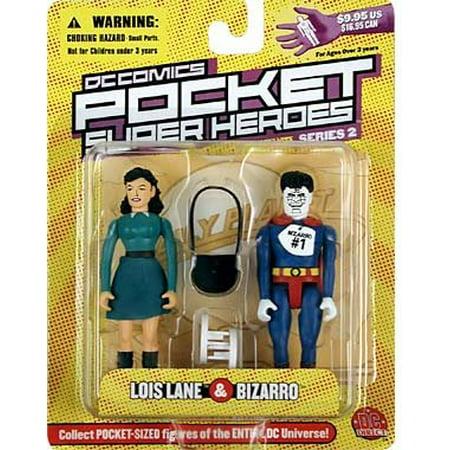 DC COMICS POCKET SUPERHEROS - LOIS LANE & BIZARRO - image 1 of 1