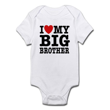 I Love My Big Brother Infant Bodysuit - Baby Light Bodysuit](Big Brother Baby Brother Halloween Costumes)